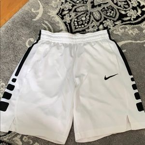 White Nike basketball shorts